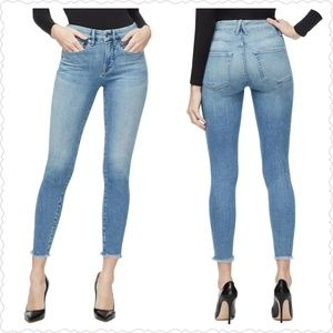 Good American Good Legs Raw Edge Skinny Jeans 31